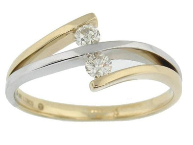 10 Karat Two Tone Canadian Diamond Ring
