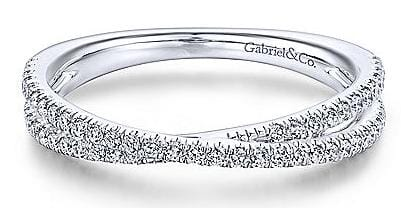 Gabriel & Co. Stackable Crossover Ring