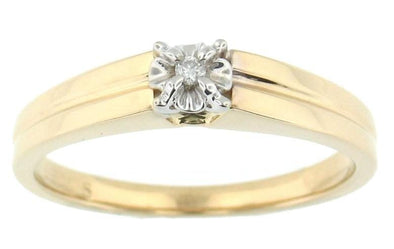 10 Karat Yellow Gold Diamond Solitaire