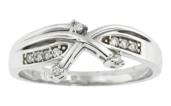 10 Karat White Gold Diamond Ring