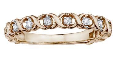 10 Karat Rose Gold Diamond Ring