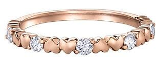 10 Karat Rose Gold Canadian Diamond Ring