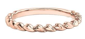 10 Karat Rose Gold Band