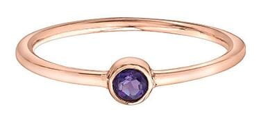 10 Karat Rose Gold Amethyst Ring