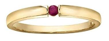 10 Karat Yellow Gold Ruby Ring