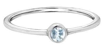 10 Karat White Gold Aquamarine Ring
