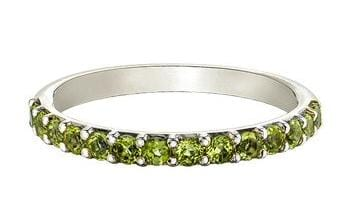 10 Karat White Gold Peridot Ring