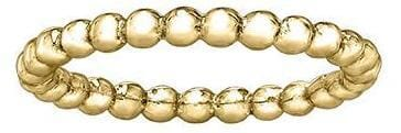 10 Karat Yellow Gold Bead Band