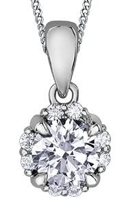 10 Karat White Gold Canadian Diamond Pendant