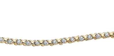 10 Karat Yellow Gold Diamond TennisBracelet