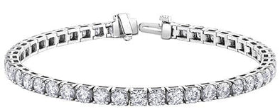 10 Karat White Gold Diamond Tennis Bracelet 1