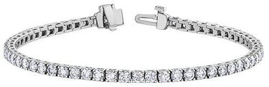 10 Karat White Gold Diamond Tennis Bracelet