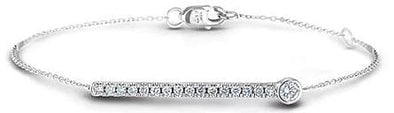 10 Karat White Gold Canadian Diamond TennisBracelet