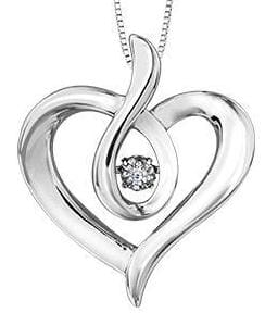 Sterling Silver Canadian Diamond PULSE Pendant