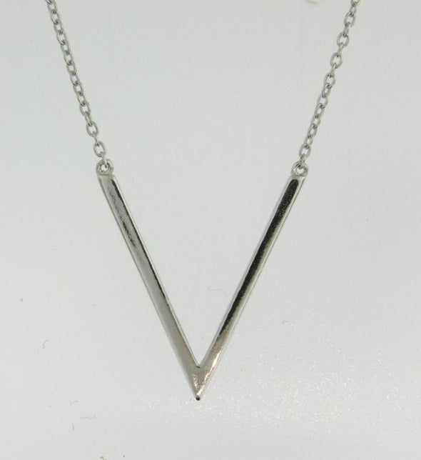 Sterling SIlver V Necklace