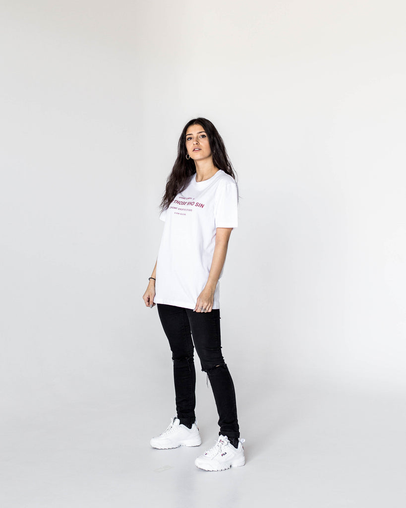 Sinners Tee - White (Woman)