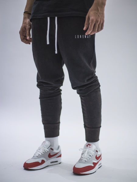 Longway Essential Jogger - Washed Black