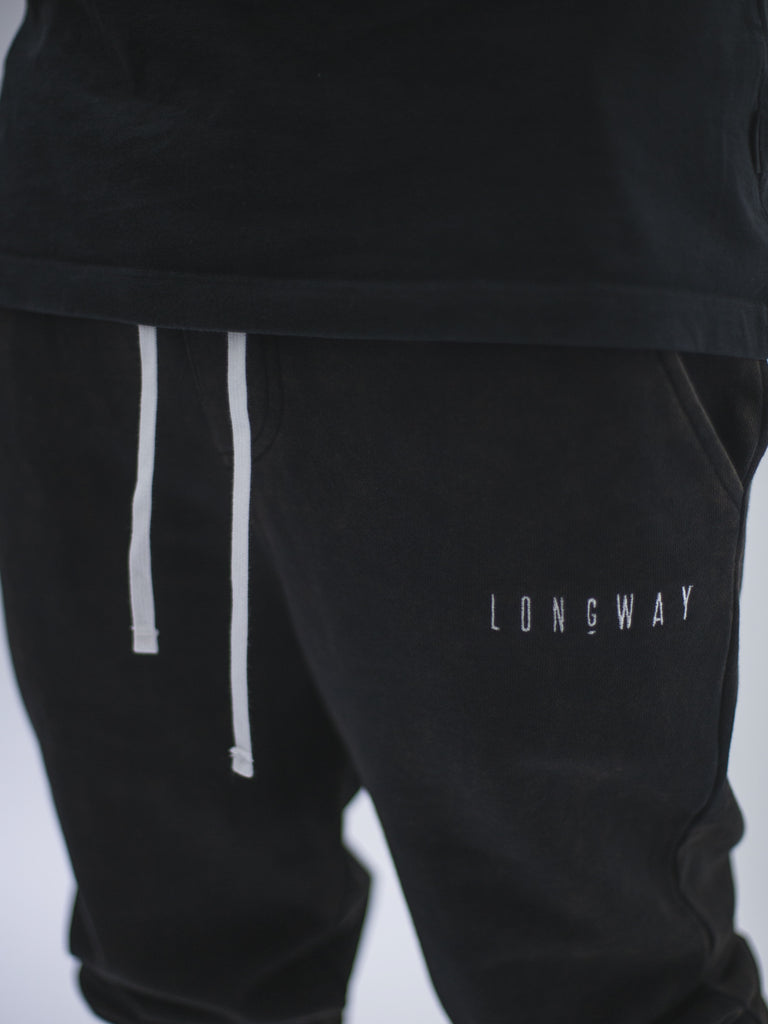 Longway Essential Jogger - Washed Black Detail