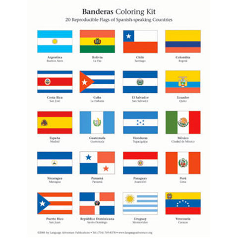 Spanish Flags Coloring Kit