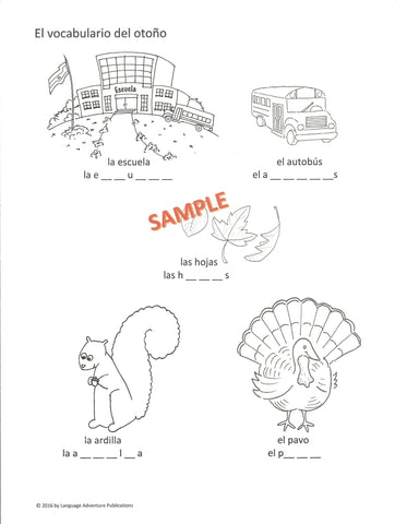 Seasons of the Year Spanish Activity Book