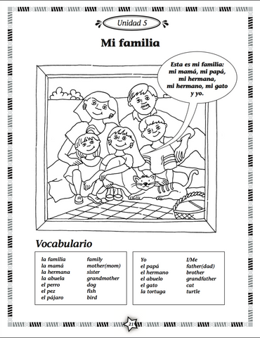 Arcoiris Level 1 Spanish Activity Book