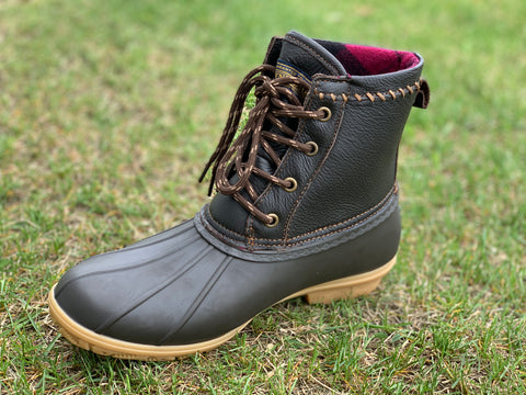 Leather Upper Short Duck Boots