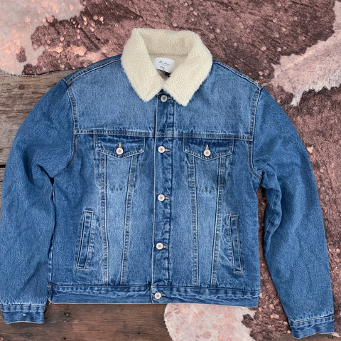 KanCan Sherpa Denim Jacket
