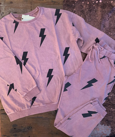 The Mauve Lightning Loungewear Set
