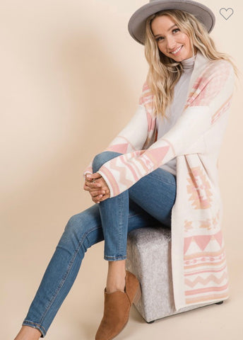 The Thornton Cardigan - Pink