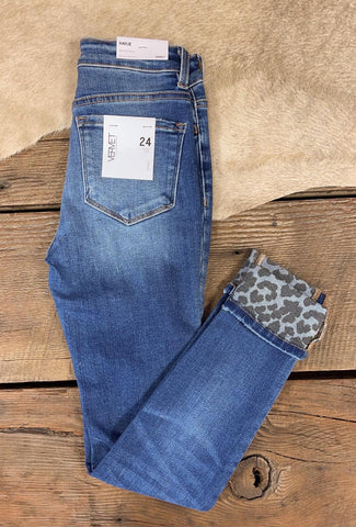 The Haylie Cropped Jeans with Leopard