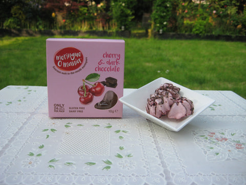Cherry & Dark Chocolate Gourmet Bitesize Meringues - Small Box