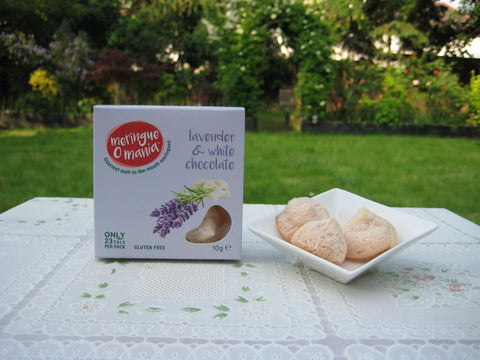 Lavender & White Chocolate Gourmet Bitesize Meringues - Small Box