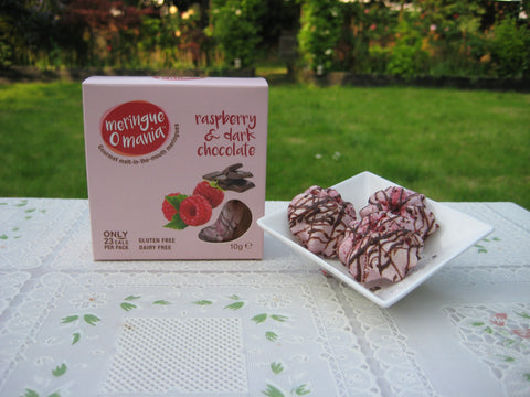 Raspberry & Dark Chocolate Gourmet Bitesize Meringues - Small Box