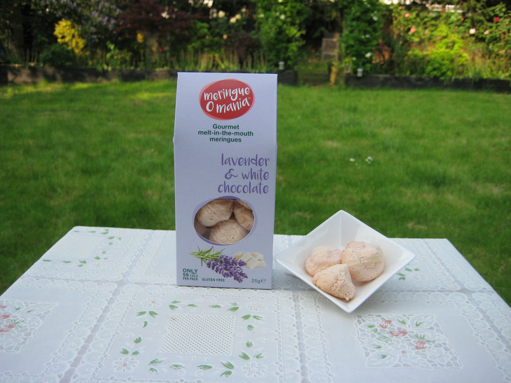 Lavender & White Chocolate Gourmet Bitesize Meringues - Large Box