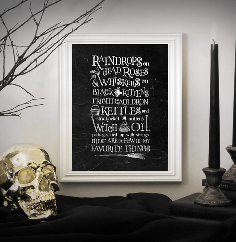 Museum-quality Print  - My Favorite Things (Halloween)