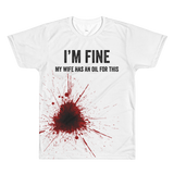 • I'm Fine. My Wife has an Oil for This - Lightweight Unisex/ Men's Crew (Outlet Product) Essential Oil Style young living tshirts funny oil shirts popular oil shirts doterra tshirts convention shirts