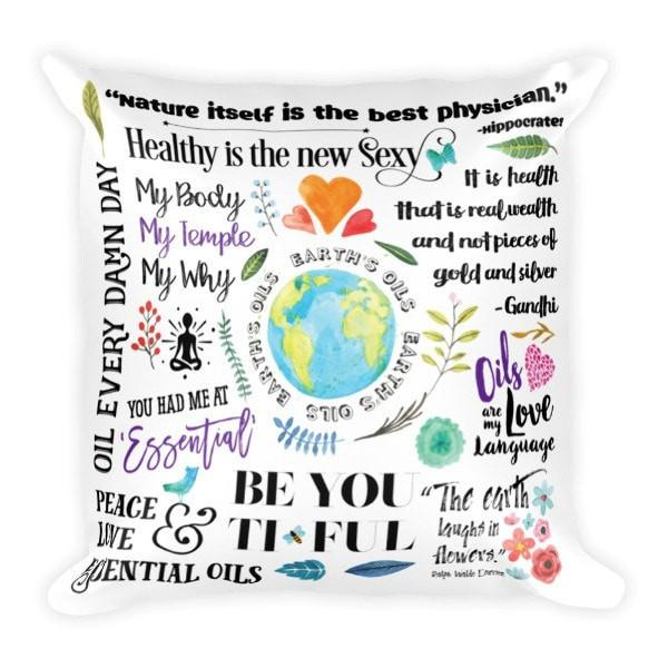 Throw Pillow - The Oil Lifestyle Essential Oil Style young living tshirts funny oil shirts popular oil shirts doterra tshirts convention shirts