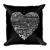Throw Pillow - Whimsical Heart Essential Oil Style young living tshirts funny oil shirts popular oil shirts doterra tshirts convention shirts