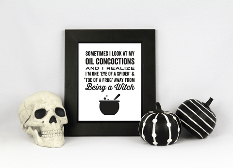 8 x 10 Halloween Print - Almost a Witch (Digital Download)