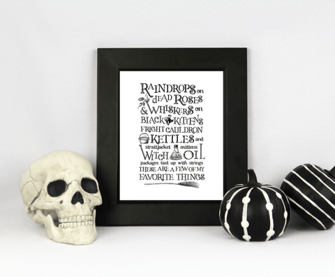 8 x 10 Halloween Print - My Favorite Things (Digital Download)