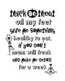 8 x 10 Halloween Print - Trick or Treat, Oil My Feet (Digital Download) Essential Oil Style young living tshirts funny oil shirts popular oil shirts doterra tshirts convention shirts