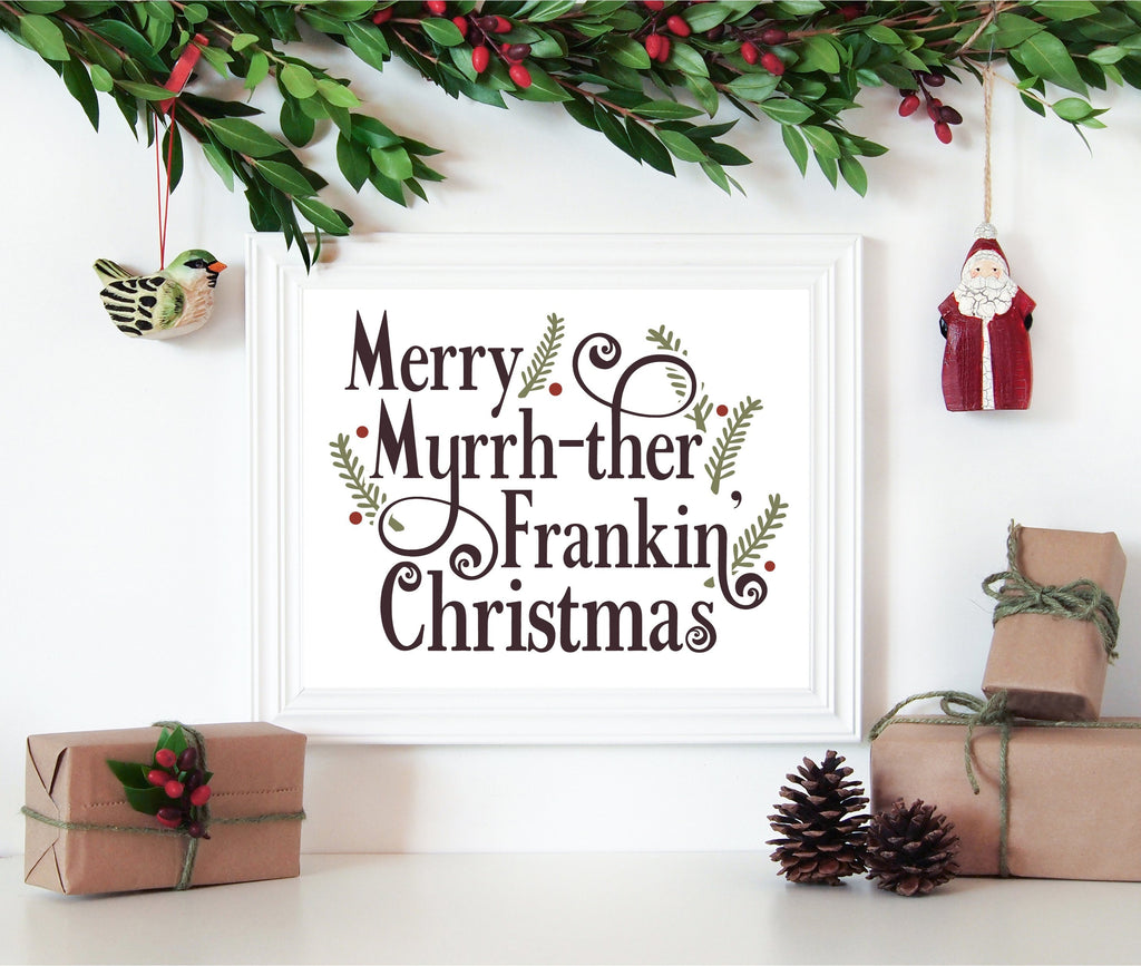 8 x 10 Print - Merry Myrrh-ther Frankin' Christmas (Digital Download) Essential Oil Style young living tshirts funny oil shirts popular oil shirts doterra tshirts convention shirts