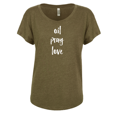 oil • pray • love - Dolman
