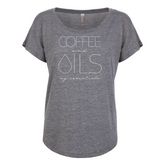 COFFEE and OILS - Dolman Essential Oil Style young living tshirts funny oil shirts popular oil shirts doterra tshirts convention shirts