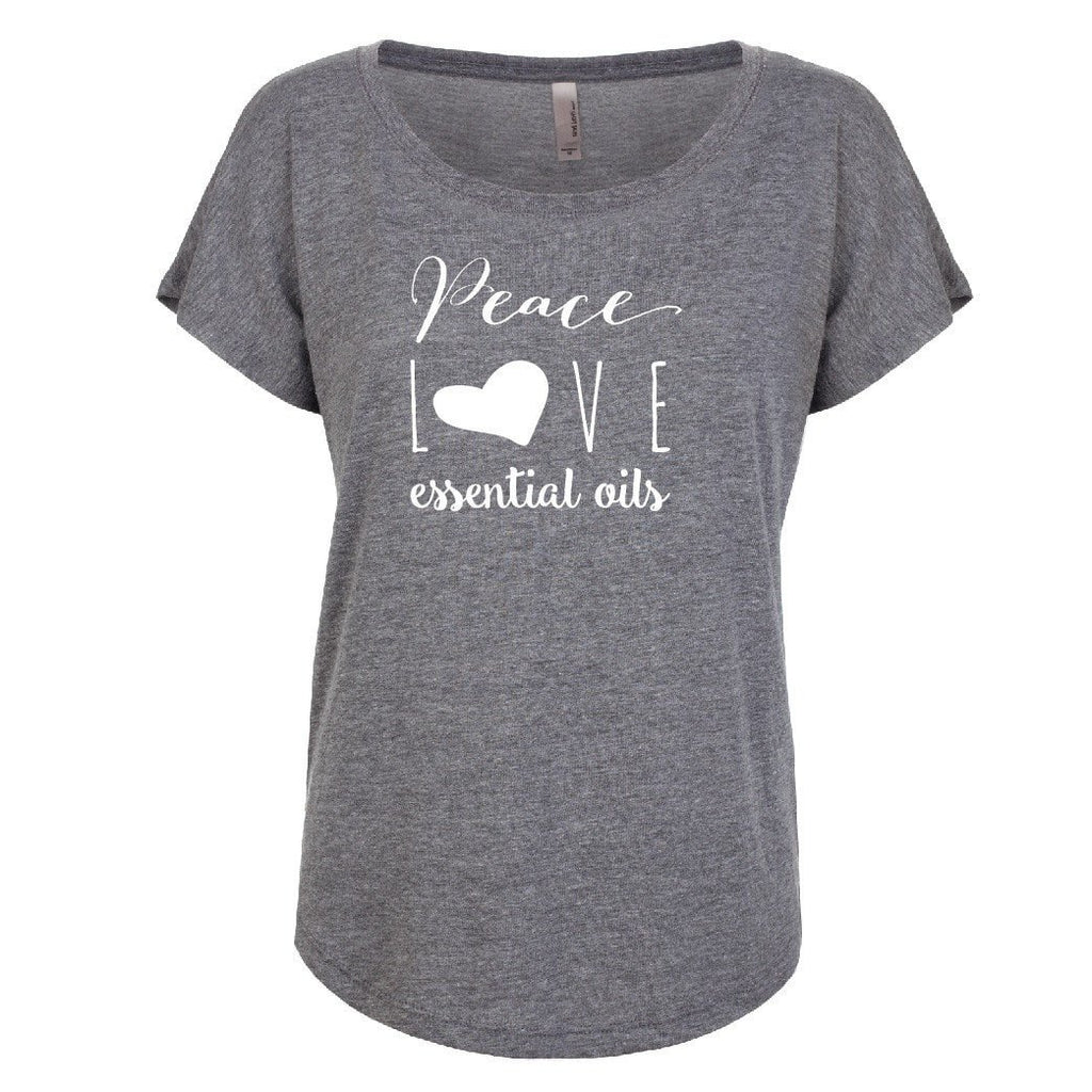 Peace Love Oils (whimsical) - Dolman Essential Oil Style young living tshirts funny oil shirts popular oil shirts doterra tshirts convention shirts