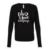 • Love Language - Drapey 2x1 Long Sleeve Top (Outlet Product) Essential Oil Style young living tshirts funny oil shirts popular oil shirts doterra tshirts convention shirts