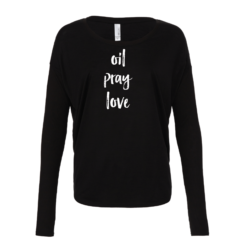 oil • pray • love  - Drapey 2x1 Long Sleeve Top (outlet)