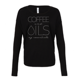 COFFEE and OILS: my essentials - Drapey 2x1 Long Sleeve Top Essential Oil Style young living tshirts funny oil shirts popular oil shirts doterra tshirts convention shirts