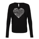 Whimisical Heart - Drapey 2x1 Long Sleeve Top Essential Oil Style young living tshirts funny oil shirts popular oil shirts doterra tshirts convention shirts