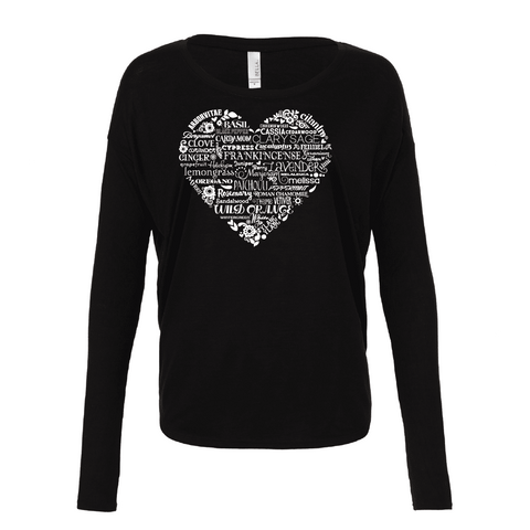 Whimisical Heart - Drapey 2x1 Long Sleeve Top